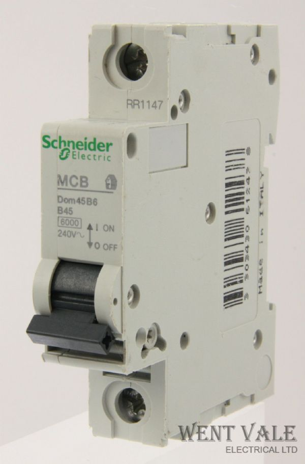 Schneider Domae - DOM50B6 - 50a Type B Single Pole MCB Un-used